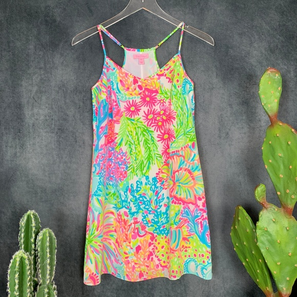 Lilly Pulitzer Dresses & Skirts - Lilly Pulitzer Dusk Silk Slip Dress Lover's Coral